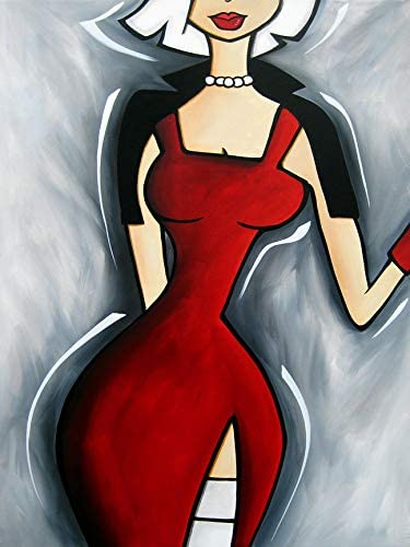 Buyartforless CAN Ranking TOP19 FS056 24x32 Superlatite GW Gray Wall Canvas Art
