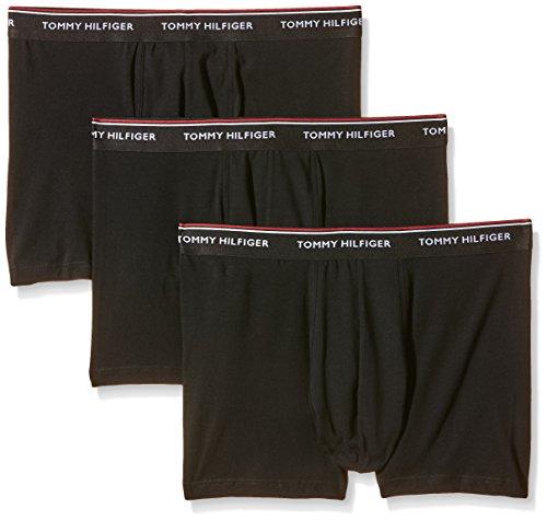 Tommy Hilfiger 1U87905252 - Boxer (Lot de 3) - Uni - Homme - Noir (Black) - Taille: 5XL