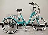 SCOUT Tricycle Adulte, Cadre en Alliage, Pliable, 6 Vitesses, Suspension Avant, Trike Pliant - Sarcelle