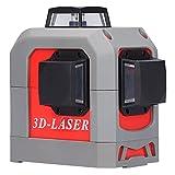 Niveau Laser Autonivelant, 20M Professionnel Laser Croix Vert, IP54 360° Laser Rotatif avec Support, USB Charge Ligne Laser pour Carrelage de So