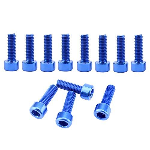 Milageto El Tenedor Ligero Azul de La Jaula de La Botella de Agua de La Bici de La Aleación de Aluminio Atornilla Los Tornillos