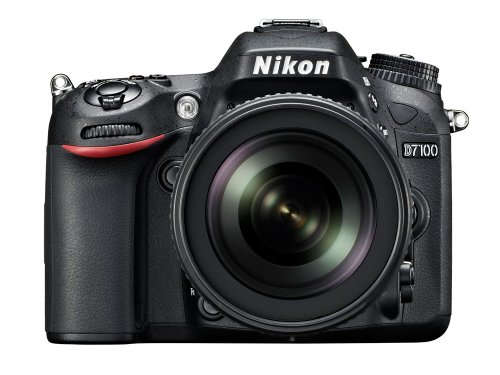 Nikon D7100 SLR-Digitalkamera (24 Megapixel, 8 cm (3,2 Zoll) TFT-Monitor, Full-HD-Video) Kit inkl. AF-S DX 18-105 mm 1:3,5-5,6G ED VR Objektiv schwarz