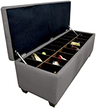 MJL Furniture Designs Sole Secret Diamond Tufted Ottoman/Bedroom Bench with Shoe Storage, 18