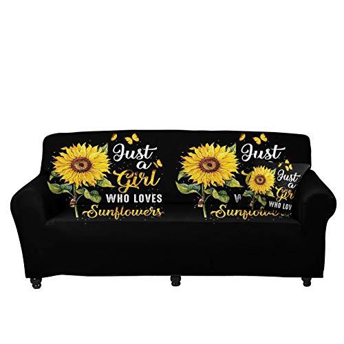 Pizding Funda de sofá con estampado de girasol, para sofá de 74,8 a 230 cm, funda de sofá y funda de sofá para perros, niños, gato