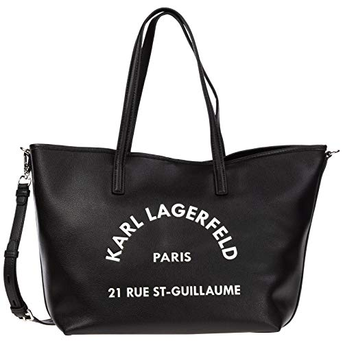 Karl Lagerfeld Damen Rue St-Guillaume Tote Tasche Schwarz