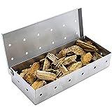 Affumicatore Box Barbecue Gas, Speyang Smoker Box in Acciaio Inox, Universale, Barbecue Accessori, 23x10.5x5cm
