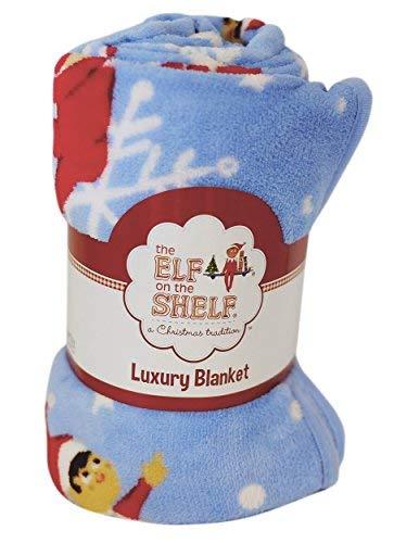 The Elf on The Shelf Schneeflocken-Fleecedecke, Polyester, Mehrfarbig, voll
