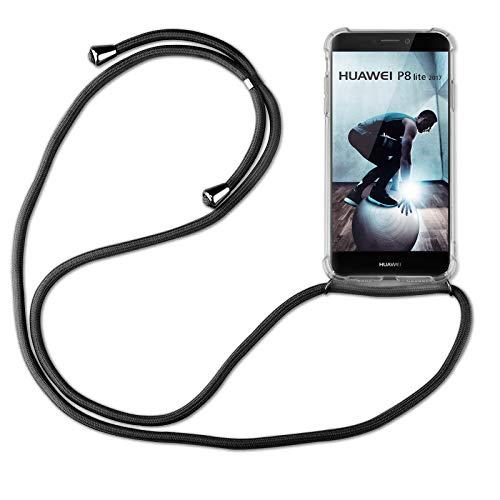 betterfon | Huawei P8 Lite 2017 Handykette Smartphone Halskette Hülle mit Band - Schnur mit Hülle zum umhängen Handyhülle mit Kordel zum Umhängen für Huawei P8 Lite 2017 Schwarz