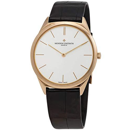 Vacheron Constantin Historiques Ultra Fine 1955 Silver Dial Black Leather Men's Watch 33155/000R-9588