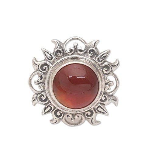 Carnelian .925 Sterling Silver Sun Ring