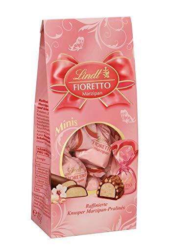 Lindt Fioretto Minis Beutel, Marzipan, Raffinierte Pralinés mit Marzipan-Füllung und Mandelsplittern umhüllt von knusprigem Crisp und feiner Lindt Alpenmilch-Schokolade, 1er Pack (1 x 115 g)