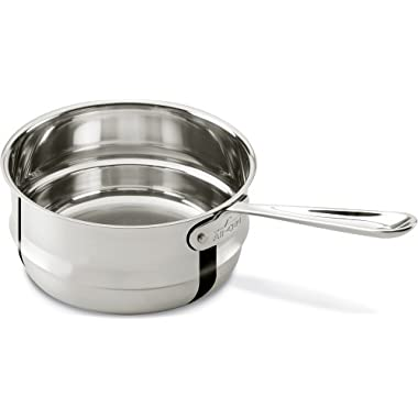 All-Clad 4703-DB Stainless Steel Dishwasher Safe Double Boiler Insert Cookware, 3-Quart, Silver