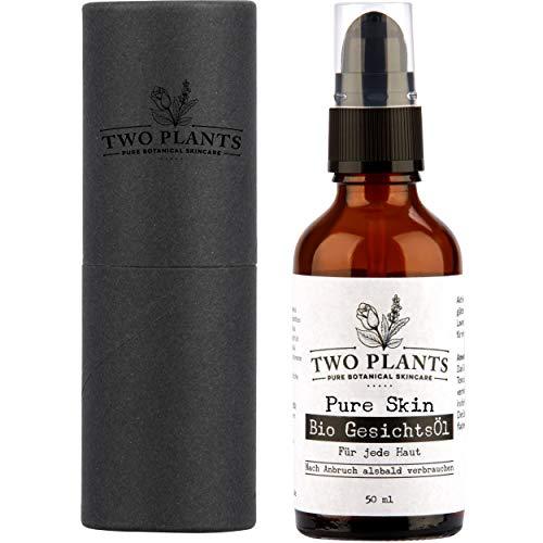 [NEU] Bio Gesichtsöl Pure Skin | Gesichtspflege gegen Unreinheiten | Anti Pickel Gesichtsöl | Akne Bio Hautöl | Vegane Gesichtspflege | 50 ml | von Two Plants
