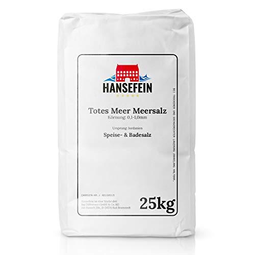 Hansefein PUR Totes Meer Meersalz 0,1-1,0mm 25kg (Speisesalz/Badesalz)