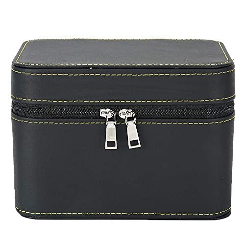 OH Caja de Caja de Vintage Cajas de Joyería de Cuero Pu Portátil para Collar Titular de Alenamiento Pulsera Braza de Alenamiento Caja de la Joyería de la Cremallera de Viaje Moda