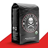 DEATH WISH COFFEE Whole Bean Coffee [5 Lbs.] The World's Strongest, USDA Certified Organic, Fair Trade, Arabica and Robusta Beans (1-Pack)