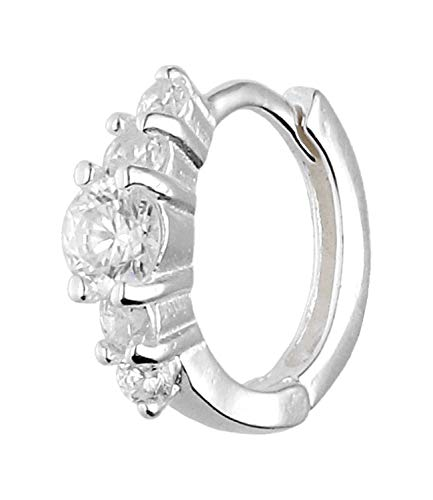 TOSH 1002569 - Piercing para la oreja (plata 925, con circonitas cúbicas)