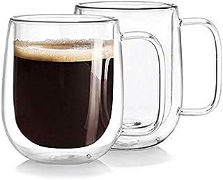 Double Wall Isolated Glass Coffee Mug 250ml