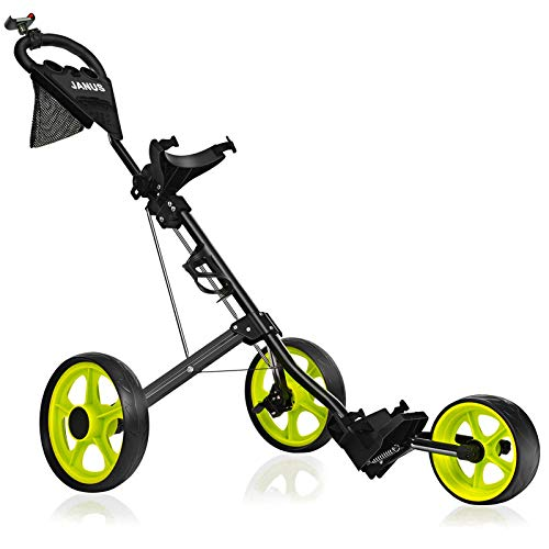 JANUS Golf Push Cart, Golf cart for Golf Clubs, Golf Pull cart for Golf...