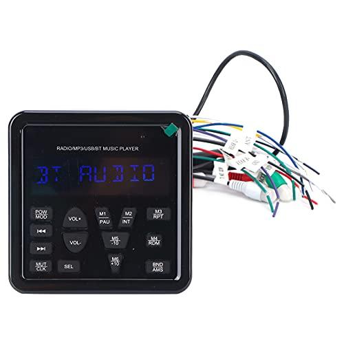 Reproductor multimedia, Amplificador de alta potencia de pico de 72x4 vatios Dos conjuntos de salida Rca Reproductor digital Pantalla retroiluminada IP66 a prueba de agua Receptor de audio Bluetooth