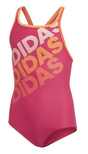 adidas Mädchen Sport Badeanzug Youth Girls Suit Lineage real Magenta, Größe:164
