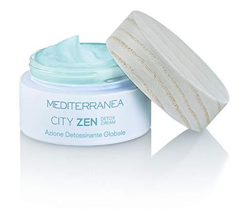 Mediterranea - Cityzen Detox Cream - Crème Hydratante pour le Visage Jour et Nuit - Protège la Peau de la Lumière Bleue et des Rayons UV - Action Détoxifiante, Antioxydante et Anti-âge - 50 ml