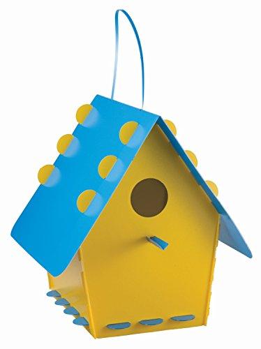 Group Tweet Tweet Home Nichoir pour Oiseaux en Plastique recyclé à Assembler Jaune/Bleu