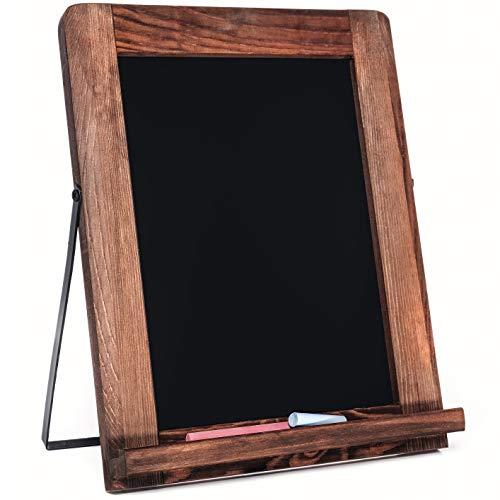 Chalkboard - Magnetic, Non-Porous - Framed Chalkboard - Vintage Decor - Standing Chalk Board for Wedding Kitchen Bar Restaurant Menu Tabletop and Home - Chalkboard Sign - 10 x 12.5 inches - Blackboard