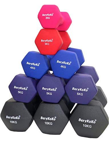 BeryKoKo ダンベル (2kg×2個セット(ピンク)) 筋トレ フィットネス シェイプアップ 正規品/18ヶ月保証