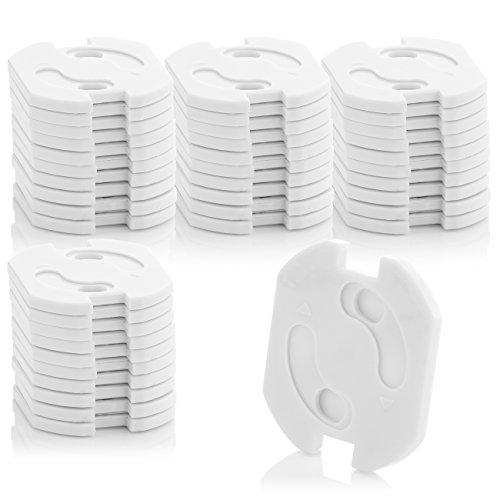 deleyCON 40x Kindersicherung für Steckdosen und Steckdosenleisten mit Drehmechanik Kinderschutz Steckdosenschutz Steckdosensicherung Baby Kleinkinder