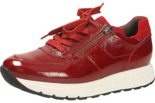 Paul Green 4856 Trendiger Damen Mid Sneaker aus Lackleder mit Reißverschluss, Groesse 41, rot