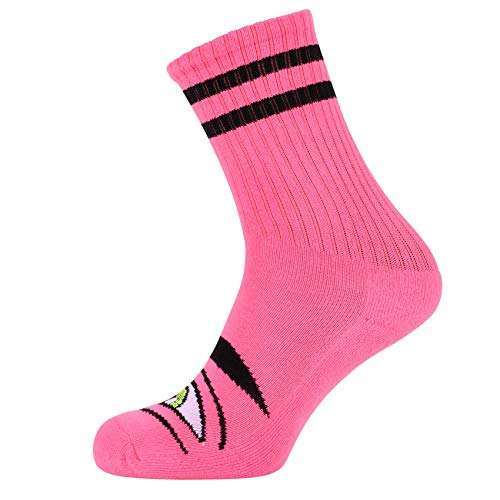 Toy Machine Skateboard Socks Sect Eye Neon Pink Crew