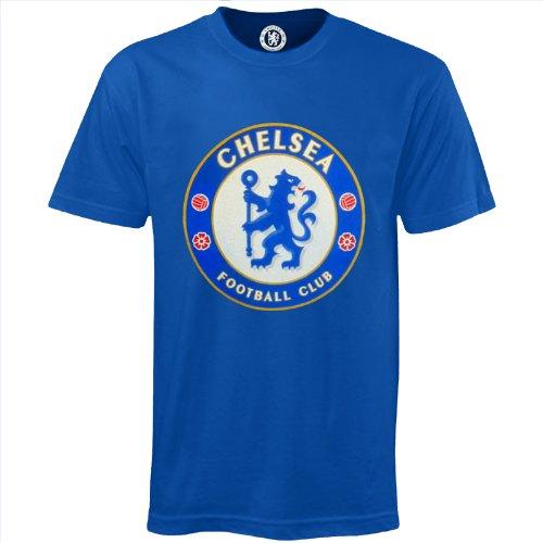 Chelsea FC - Camiseta oficial para niños - Con el escudo del club - Azul real - 10-11 años
