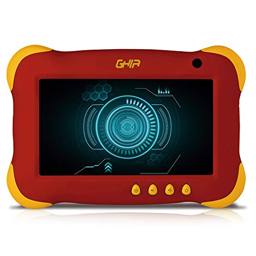 GHIA Tablet 7 Kids, Quad Core, 1GB de RAM, 8GB de Almacenamiento, 2 Cámaras, WiFi, Android 7.1, Color…