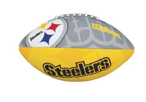 Wilson Football mit dem Logo des NFL Junior Teams, WTF1534IDPT, PITTSBURGH STEELERS, Für Kinder