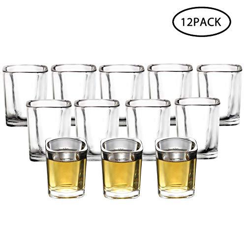 Shot Glasses, RUCKAE 2 OZ Shot Glasses Set with Heavy Base, Clear Shot Glasses Set of 12