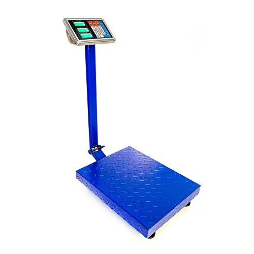 TUFFIOM 661lbs Electronic Digital Platform Scale,Heavy Duty Blue Folding Floor Scales,High-Definition LCD Display,Perfect for Mailing Luggage Shipping Package Price