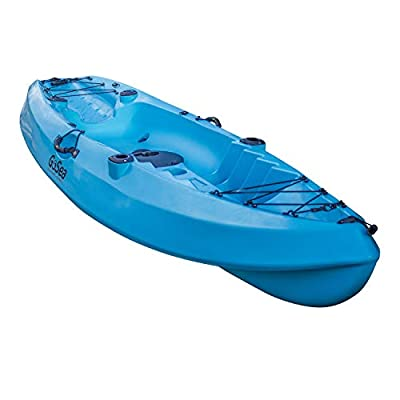 GoSea Pioneer XL Kayaks Single Sit On Top Fishing Kayak for One Man   Premium Solo All Round River and Lake Fishing Canoe for Beginners with 2 Fishing Rod Holders and Storage