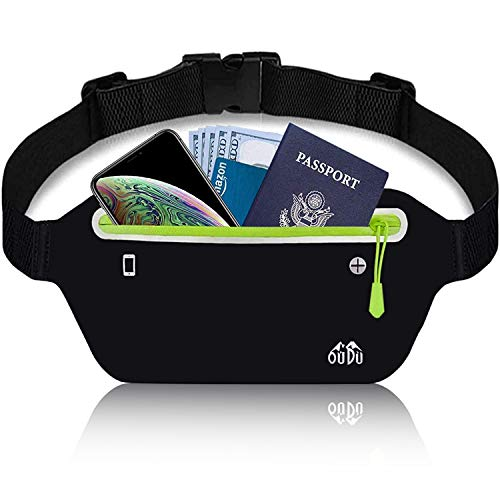 Running Belt for Women Men, Fanny Pack - Running Phone Holder - Water Resistant Slim Runners Belt Fitness Workout Exercise Waist Bag Pack for All Kinds of iPhone Samsung Android