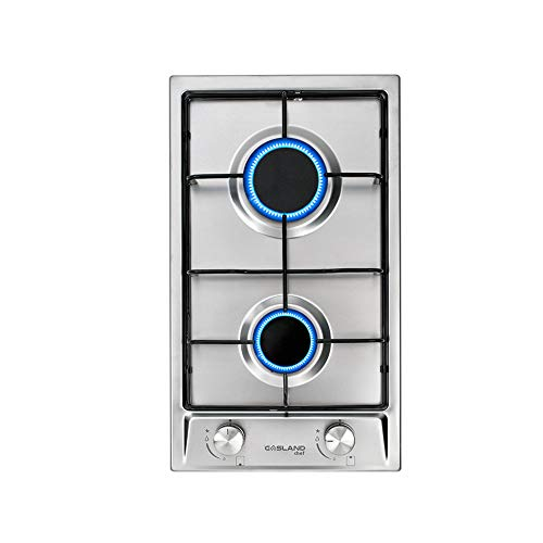 Gasland Chef GH30SF 30cm Built-in 2 Burners Gas Hob Cooker Stainless Steel Cooktop with Flame Failure Protection