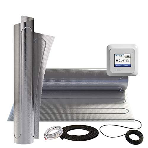 Suelo radiante eléctrica F. suelos laminados vinilo a HDF 150W/M² aluminio Calefacción Matte opcional Termostato