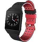 Bluetooth Smart Watch Motion Heart Rate Monitoring Activity Tracker Waterproof Bracelet-Red