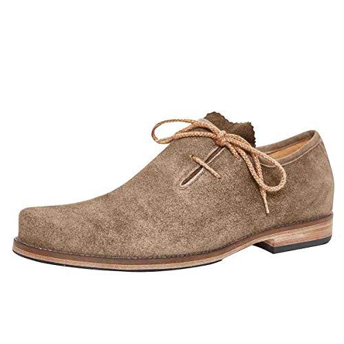 dirndl + bua Herren Trachten-Schuhe Haferlschuh Josef in Beige, Farbe:Beige, Inter. Schuhgrößen:41 EU