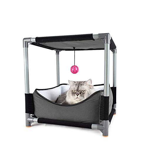 before now Kreative DIY Demontage Kombination Katzenstreu Katzenbett 丨 Tragbare Hundehütte Komfortable Mode Katze Klettergerüst Doppelbett Katze Sprungplattform