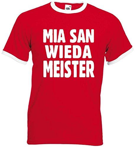 FOL / world-of-shirt MIA SAN WIEDA Meister München Ultras Retro T-Shirtrot-L