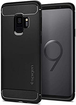 Spigen Galaxy S9 Case [Rugged Armor] Original Patent Carbon Fiber Design Galaxy S9 (2018) Cover Shock Absorption - 592CS22834 [Black]