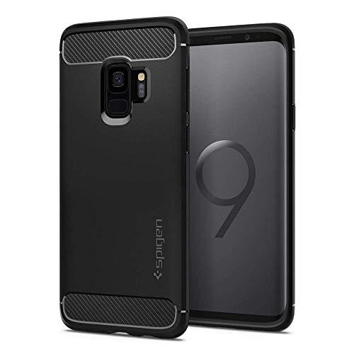 Spigen Cover Galaxy S9 Rugged Armor Compatibile con Samsung Galaxy S9 Cover Custodia - Nero