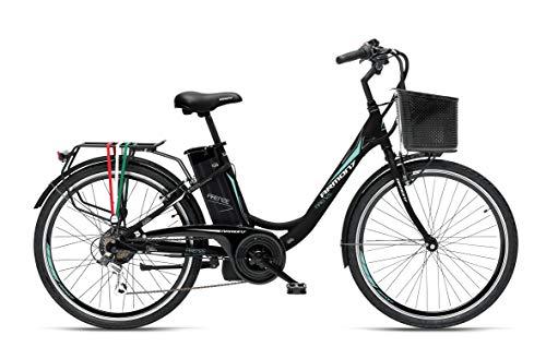 Armony Firenze, Bicicletta Elettrica Unisex Adulto, Nero Opaco, 24'