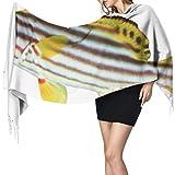 Women's Warm Shawl Scarf Fashion Long Shawl Oriental Sweetlips Fish Isolated On White Large Soft...