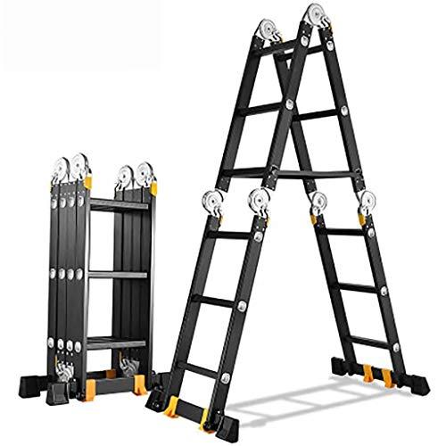 Multifunción Plegables Escalera,multi-propósito Escaleras De Mano Extensible Portátil Anti-slip Escalera Aluminio Aleación Escalera-a4.0mm 2.3+2.3m
